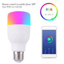 2018 New Arrival Smart Light Bulbs APP Remote Control LED Smart WIFI Bulb LED Color Adjustment Connect for Google Home Alex Echo
