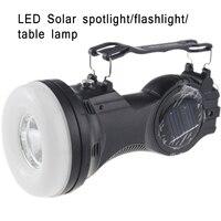 Oświetlenie LED Ładowania Energii Słonecznej Odchylanego Latarnia Na Zewnątrz Camping Latarka Szperacz Home Office Czytanie Lampy Stołowe