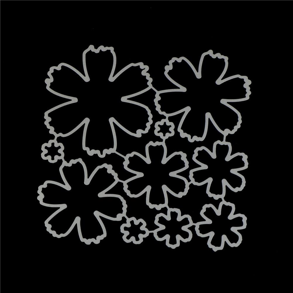 New Flower Design Metal Cutting Die Scrapbooking Die Stencils Release Tool for Releasing Paper Cuts DIY 10PCS