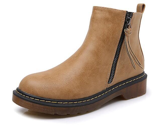 Borla Mujer Martin Redonda gray Cuero Diseño 2018 black Genuino De Invierno Más Vaca Cortas Nuevo Yellow Punta Zapatos Botas FqFrPvg