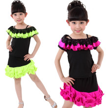 20pcs/lot Free Shipping New Children Girls Latin Dance Clothes Tango Cha Cha Salsa Ballroom Dancing Costumes Fringe Dress