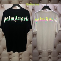 Palm Angels Vetements T Shirt Men Women Colorful Reflective Streetwear Summer Style T shirt Heron Preston Palm Angels Tshirt