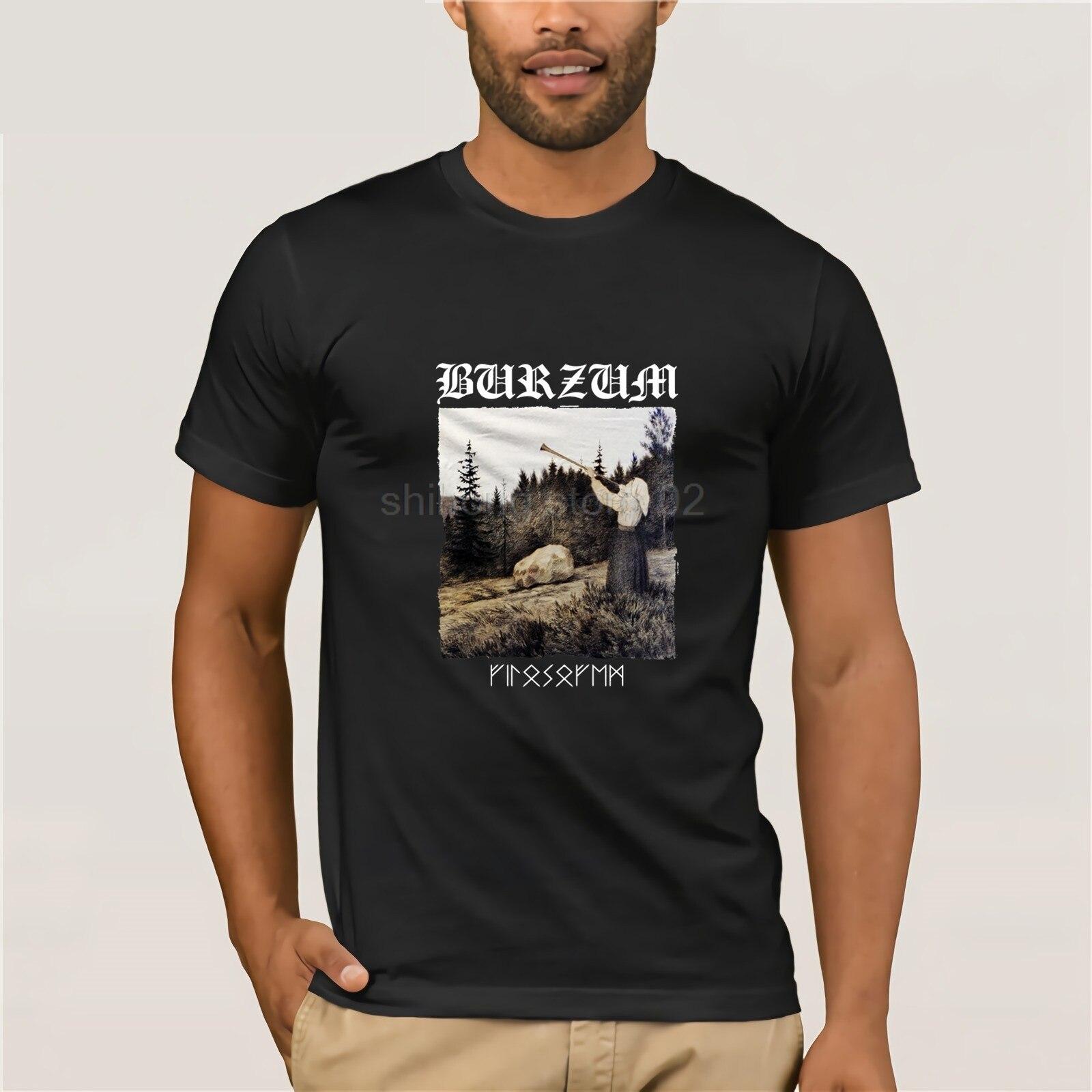 FILOSOFEM BRZM T SHIRT Black Metal Mayhem Darkthrone Bathory Emperor Mens Tops Cool O Neck T-Shirt Top Tee Plus Size