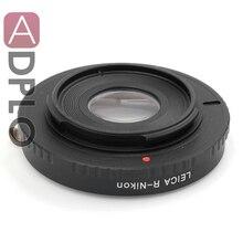Adaptador de lente de foco infinito para Leica R LR Lens para Nikon com vidro óptico