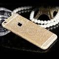 Venda quente da moda brilhante full body glitter para apple iphone 5 5S 6 6 S Cor de Doces Bonito Etiqueta Do Telefone Protetor de Tela Fosco