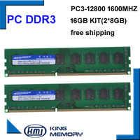 KEMBONA trasporto libero desktop DDR3 16 gb 1600 Mhz 16 GB (Kit di 2, 2X ddr3 8 GB) PC3-12800 lavoro Nuovo di Zecca longdimm desktop