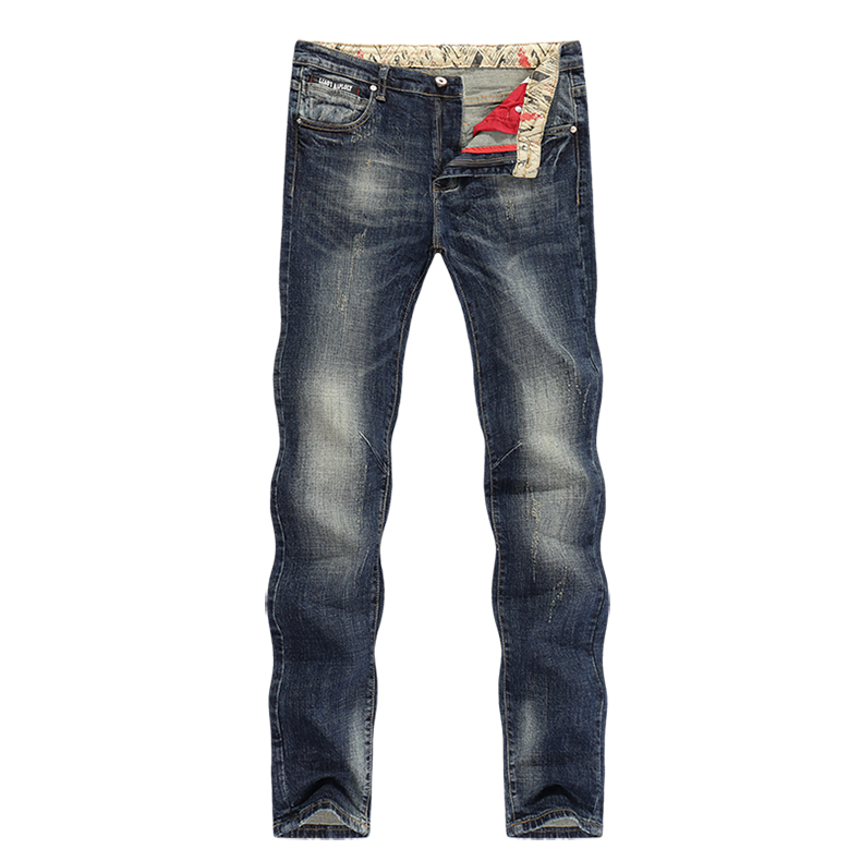 KSTUN Jeans Men New Arrivals Autumn Winter Direct Straight Retro Blue Stretch Vintage Casaul
