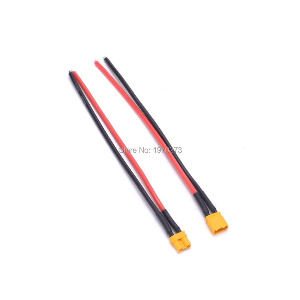 1pcs XT30 Male / Female Connector With 16AWG Silicone Wire