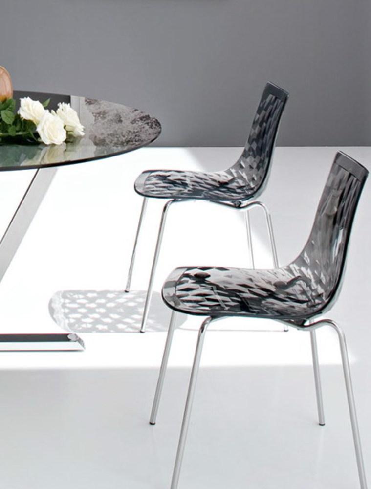 Minimalist Modern Design Transparent Seat Steel Metal Leg Base Dining Side Chair Popular Beautiful Nice Clear Diamond Chair