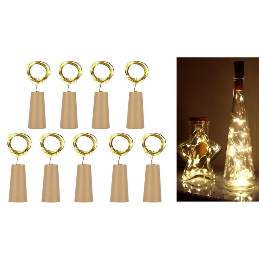 Delicious 2018 9pcs Cork Shaped Led Night Starry Light Wine Bottle Lamp For Party Decor Drop Hipping Furniture