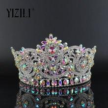 Новинка yizili европейская большая свадебная крона полная Алмазная