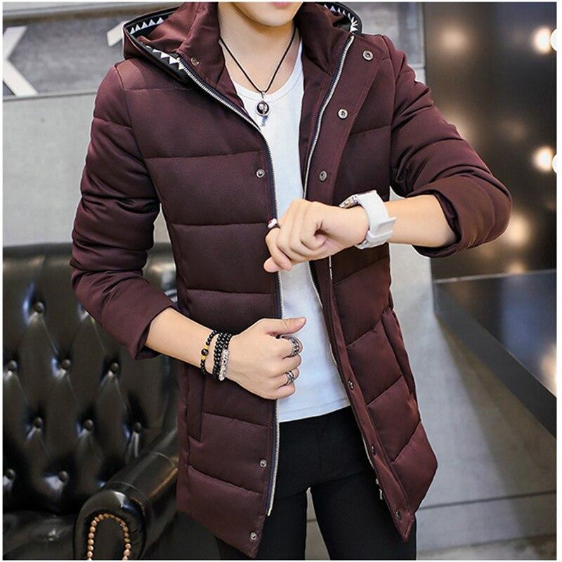 2016 Erkekler Kış Aşağı Pamuk Ceket palto Kore İnce Kalın Mektubu Sıcak Kapüşonlu Fermuar Pamuk dolgulu Giysiler Parkas Coat