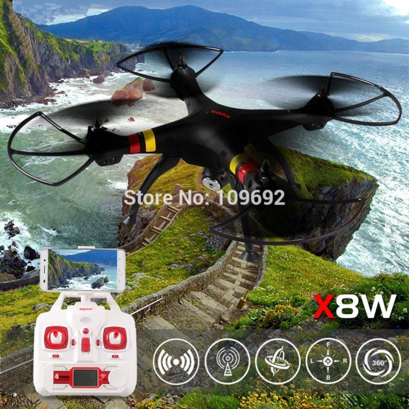 Envío gratis syma drone x8w wifi fpv tiempo real video 2mp hd cámara RTF 2.4G 6-