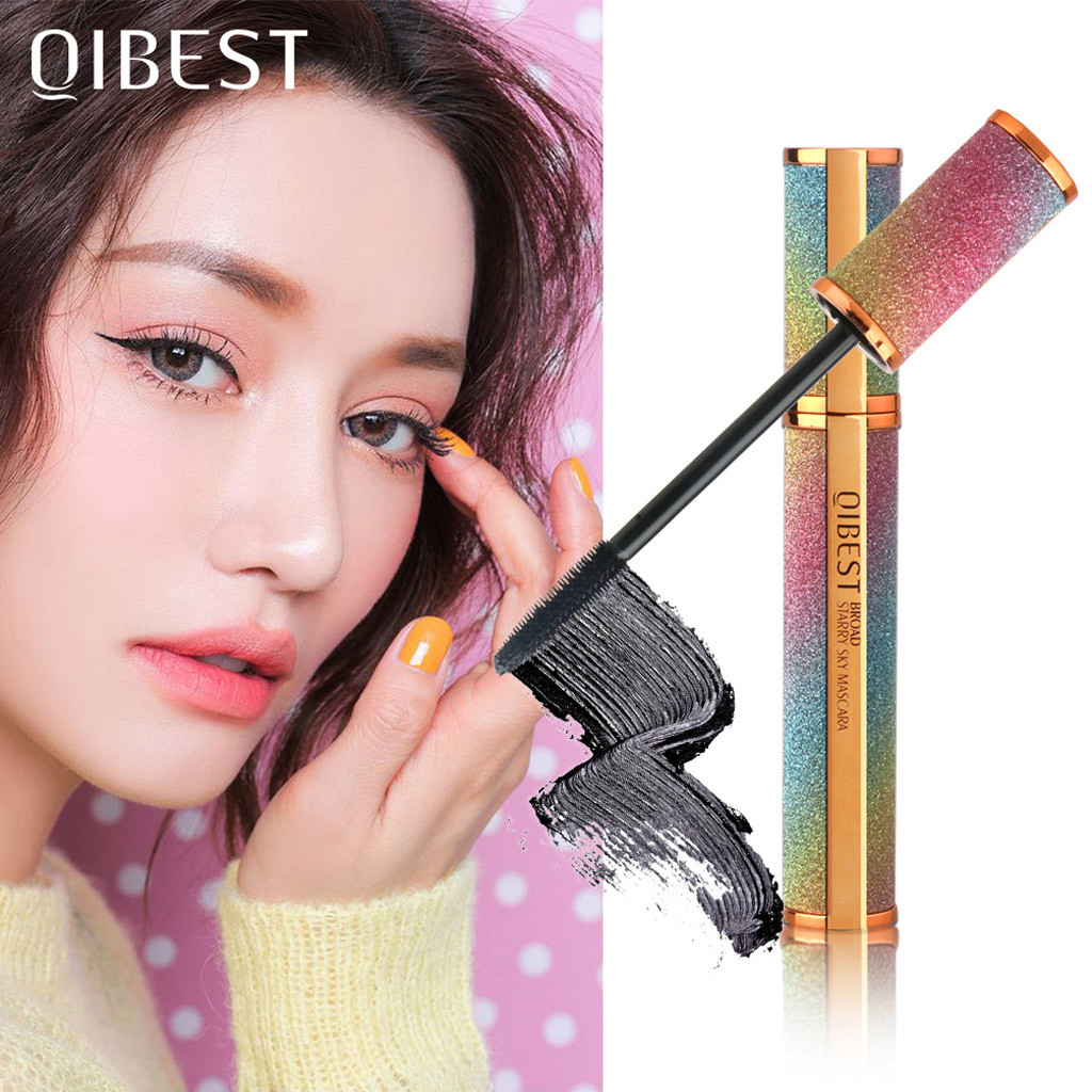 QIBEST eye shadow Black Waterproof Makeup Eyelash Long Curling Mascara Eye Lashes Extension eyes shadow Apr15