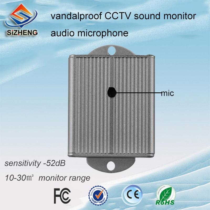 SIZHENG SIZ-130 Voz pegar dispositivo de áudio CCTV microfone anti-motim para sistema de segurança CCTV