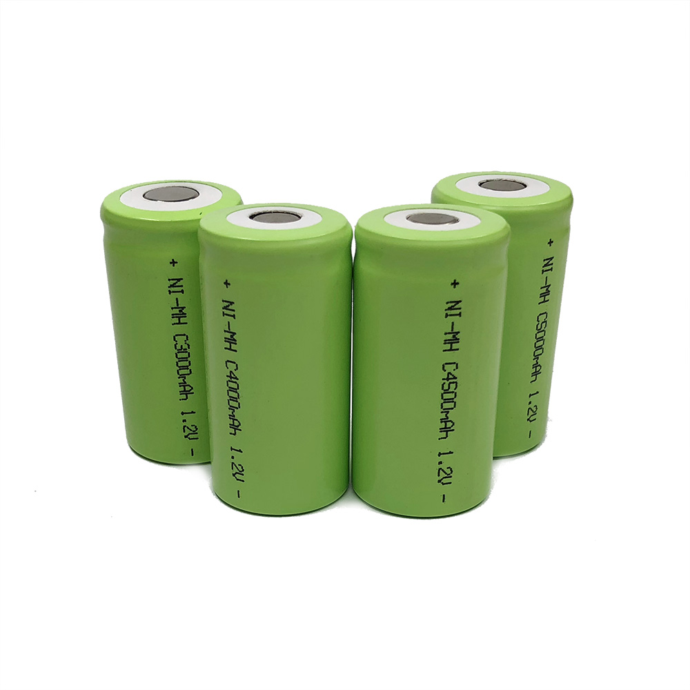 5000mah 1.2v Rechargeable Battery Pack Ni-Mh Nimh C Size Cell  LR14 R14 With Welding Pins Tabs For Torch And Toys Clock