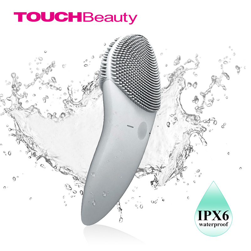 TOUCHBeauty Facial Cleansing Brush Sonic Vibration Face Cleaner Double-sided Silicone Deep Pore Cleaning Face Massager TB-1788G