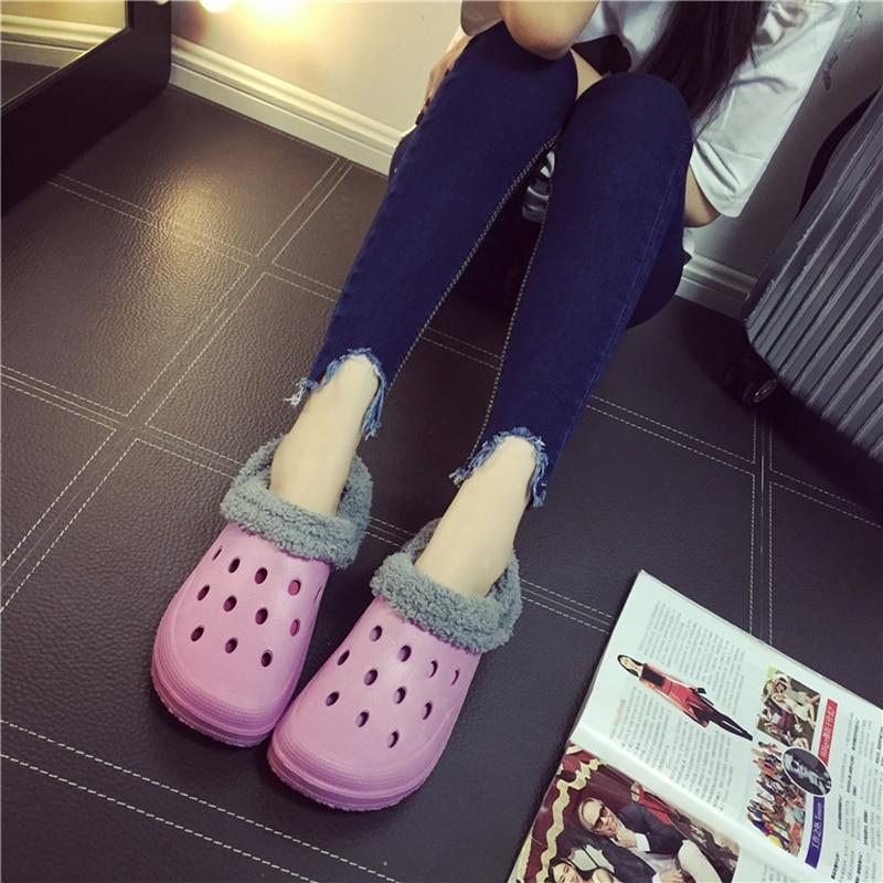 product Winter Shoes Woman Zuecos Playa Clogs Women Add Fur Warm Mule Shoes Eva Garden Clogs zuecos mujer Clogs Slippers Slipper Clog