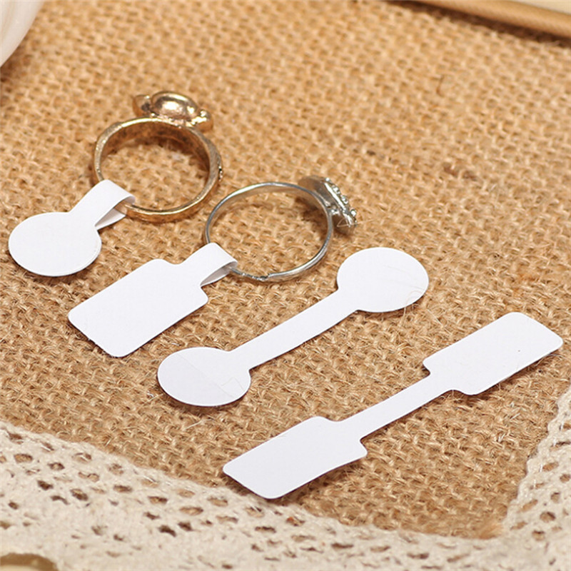 100Pcs/bag Blank Price Tags Necklace Ring Earrings Pendants Jewelry Labels Paper Stickers Retail Store