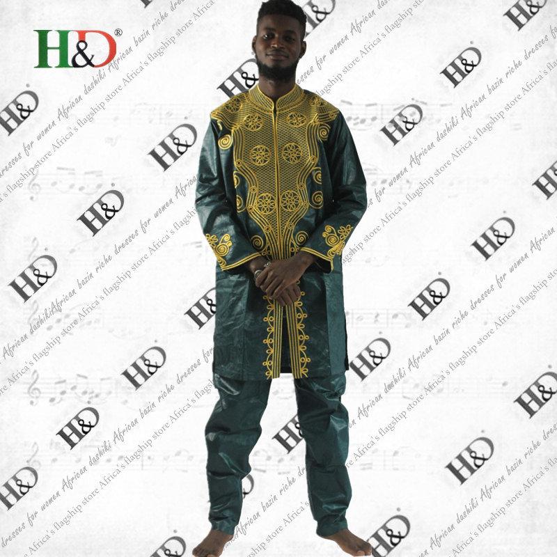 (شحن مجاني) الرجال الأفريقية بازان - الملابس الوطنية