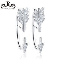 Rinntin 100 Sterling Silver Luxury Arrow Design Paved 51 Pieces Shiny Austrian Cubic Zircon 925 Jewelry