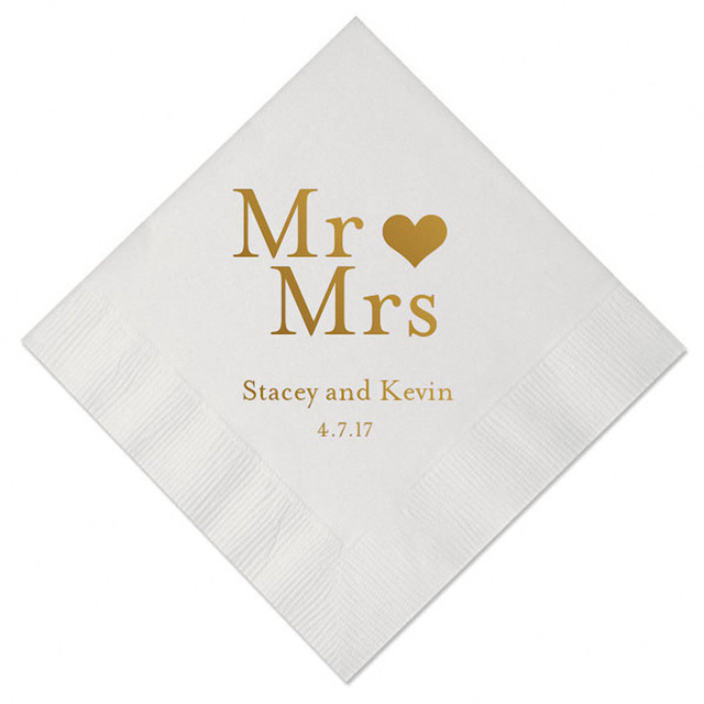 set of 100 personalized napkins decoupage tissue custom table napkin