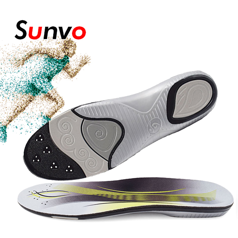 Sunvo Sport Insoles Arch Support Shoes Shock Absorption For Running Basketball Football Flat Feet Height Increased Pad Men Women