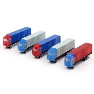 5 шт Красочный пикап пластиковый контейнер миниатюрный цветной грузовик автомобили железнодорожная модель игрушки 1: 150 N масштаб