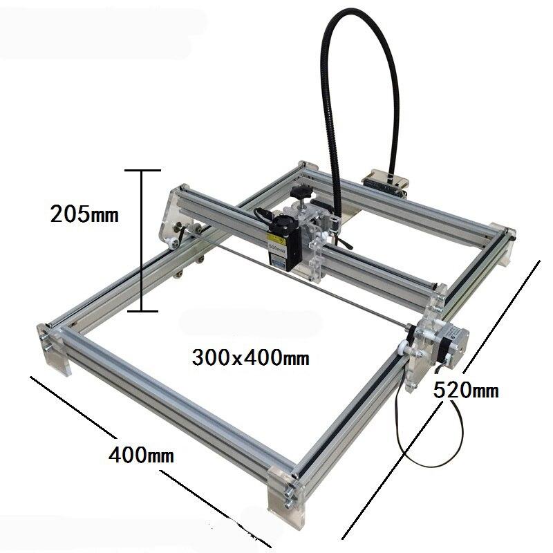 DIY USB Laser Engraver Laser machine Marking Machine Plotter 30*40cm1000mw Accuracy: 0.1MM 12V high quality southern laser cast line instrument marking device 4lines ml313 the laser level