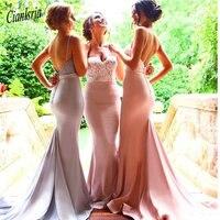 Новое поступление милое кружевное Русалочка Длинные свадебные платья Дешевое платье подружки невесты для свадебной вечеринки