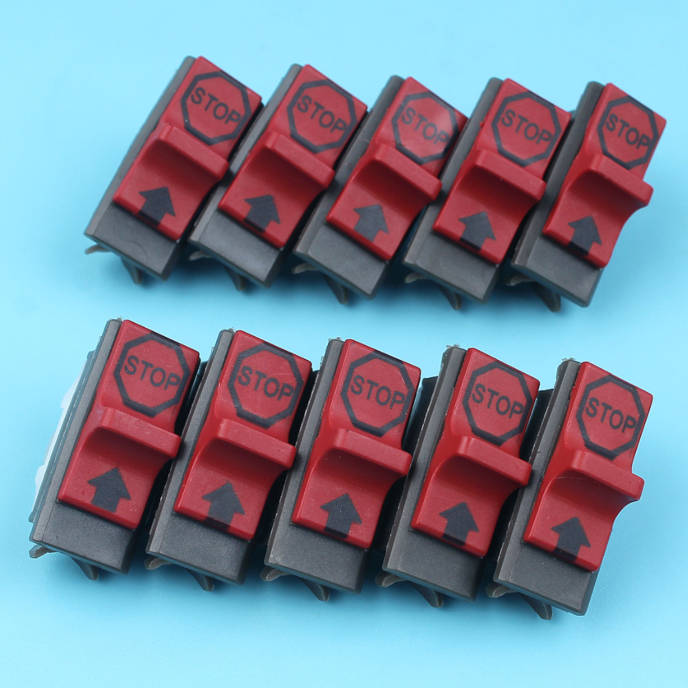 10 X On-Off Stop Kill Switch Kit For HUSQVARNA 137 142 36 41 42 136 50 51 55 61 141 266 268 272 281 288 Chainsaw Replace Parts