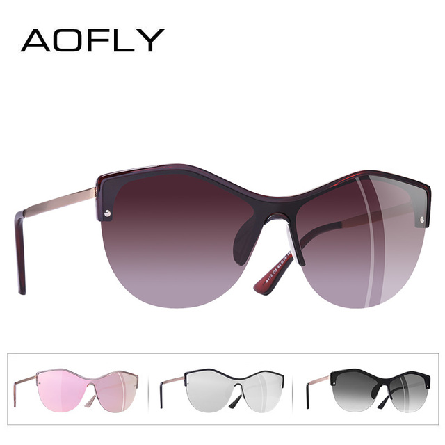 AOFLY BRAND DESIGN Women Cat eye Sunglasses 2018 Female Retro Style Shades UV400 Oculos de sol Feminino A113 3