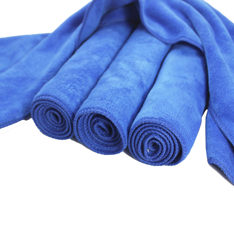Image 2 - 30*70cm Soft Microfiber thick Blue Soft Absorbent Wash Cloth Car Auto Care Microfiber Cleaning Towels Car Wash Car care Cleaning-in Paint Cleaner from Automobiles & Motorcycles
