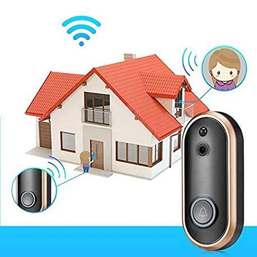 WiFi Smart Video Doorbell Camera Door Bell 1080P HD Wireless Home Security Doorbell Camera with 16GB Storage Card 2 Rechargeable