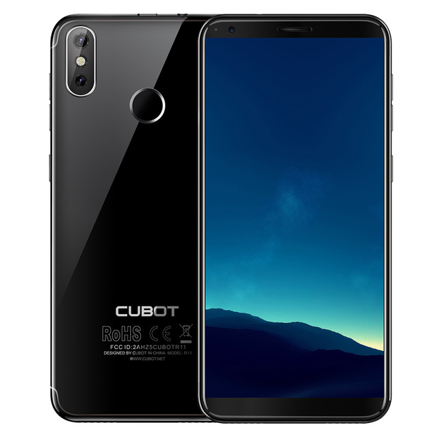 Original Cubot R11 5.5 ''18:9 + écran RAM 2GB ROM 16GB Smartphone MT6580 Quad Core Android 8.1 empreinte digitale 13.0mp téléphone portable - 3