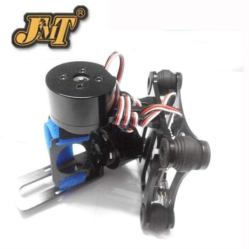 JMT support de caméra à cardan 2 axes en aluminium PTZ avec contrôleur de moteur sans balai pour Gopro 2/3 FPV Phantom Black