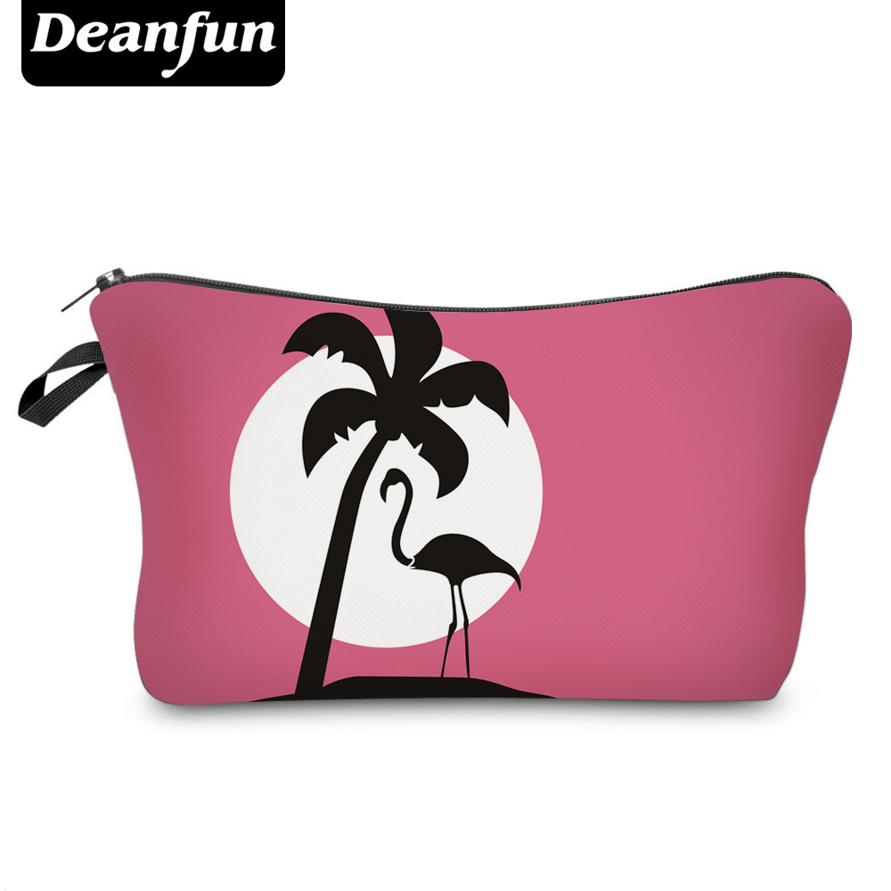 Deanfun 3D Printed Flamingo Pink Cosmetic Bags  Fashion For Travelling Women Makeup Organizer 51068