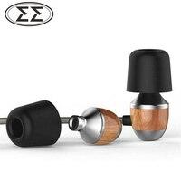 New Original VJJB K4 Wooden Bass In Ear Headphones Ebony Earphone Bass DIY Magic Sound Headset