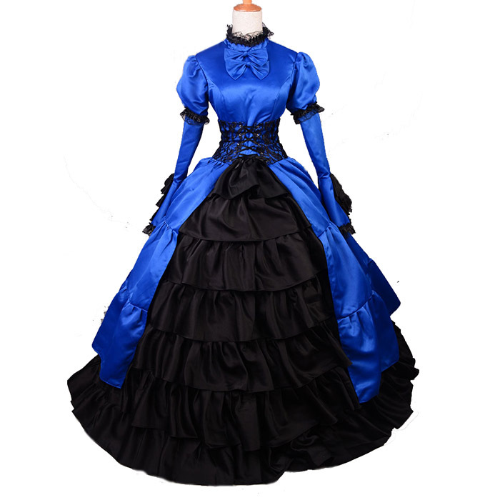 Victorian Ball Gown Royal Blue