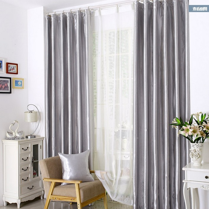 Silver Grey Living Room Curtains | Gopelling.net