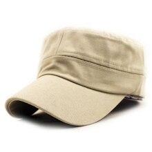 Moda Adulto de Alta qualidade de Algodão Lavado Cor Sólida Ajustável  Militar Hat Unisex Bonés de Beisebol Chapéus Do Exército Al.. 8f0c6ccc7fb