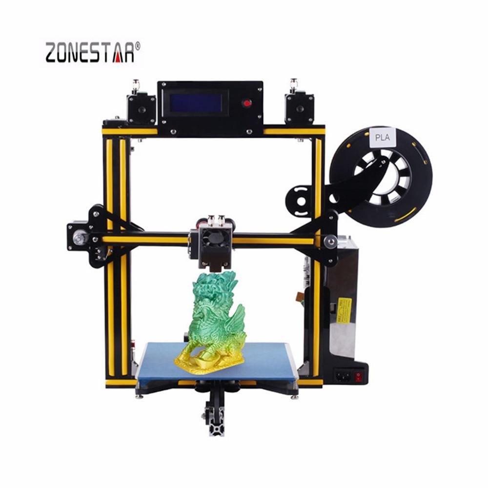 ZONESTAR Z5M2 cadre en aluminium double extrudeuse mélange couleur imprimante 3D kit de bricolage 220mm x 220mm x 220mm