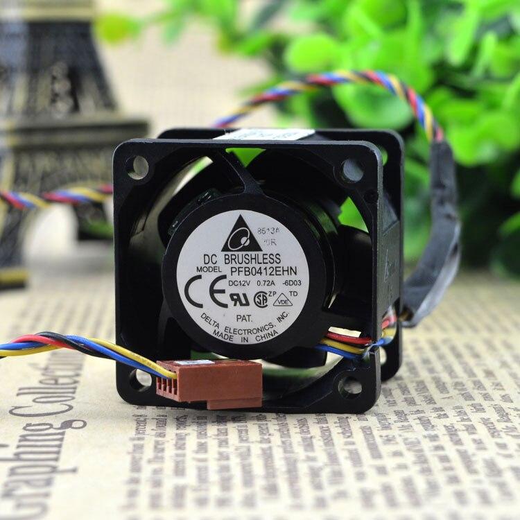 Free Shipping via dhl Original For Delta PFB0412EHN 4CM 40MM DC 12V 0.72A industrial blower Server Inverter Cooling fans cooler