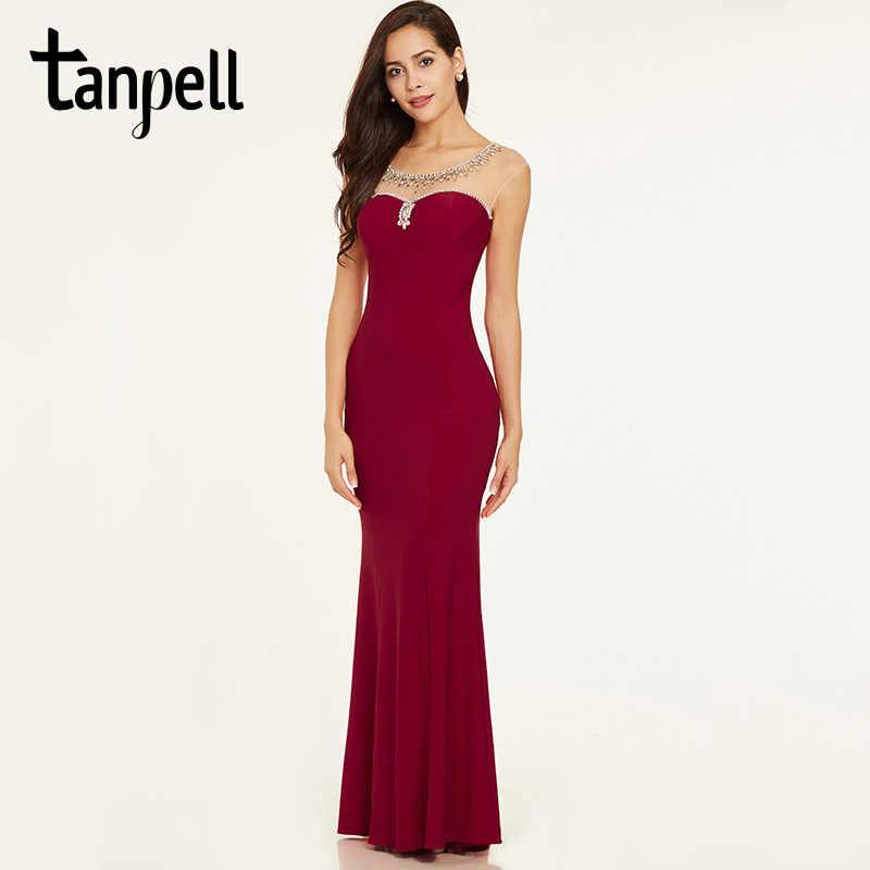Tanpell вечернее платье с бисером элегантное красное платье с рукавами- крылышками прямое платье в пол a914ba3d4b0