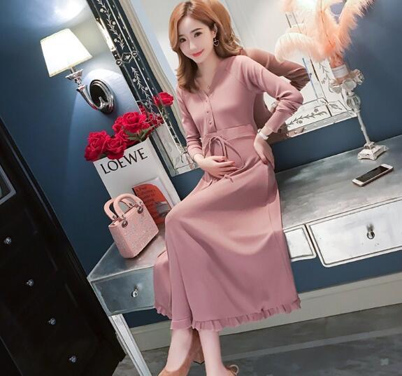 2019 dress female summer short-sleeved long floral color C-8