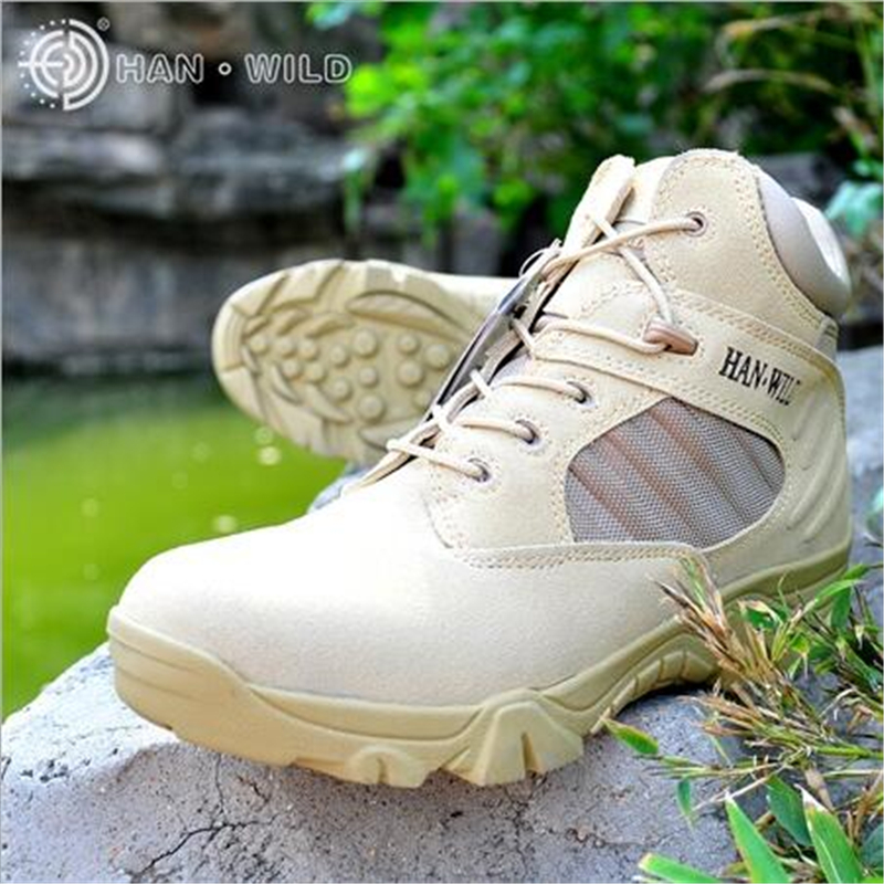 Quality Shoes Men Autumn Winter Military Tactical Boots Mens Genuine Leather Army Ankle Boots Outdoor Desert Combat Boots