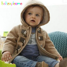 0-5Years/Autumn Baby Boys Wool Coats Warm Hooded Kids Casual Fashion children's wear winter Outerwear For Toddler Clothes BC1185