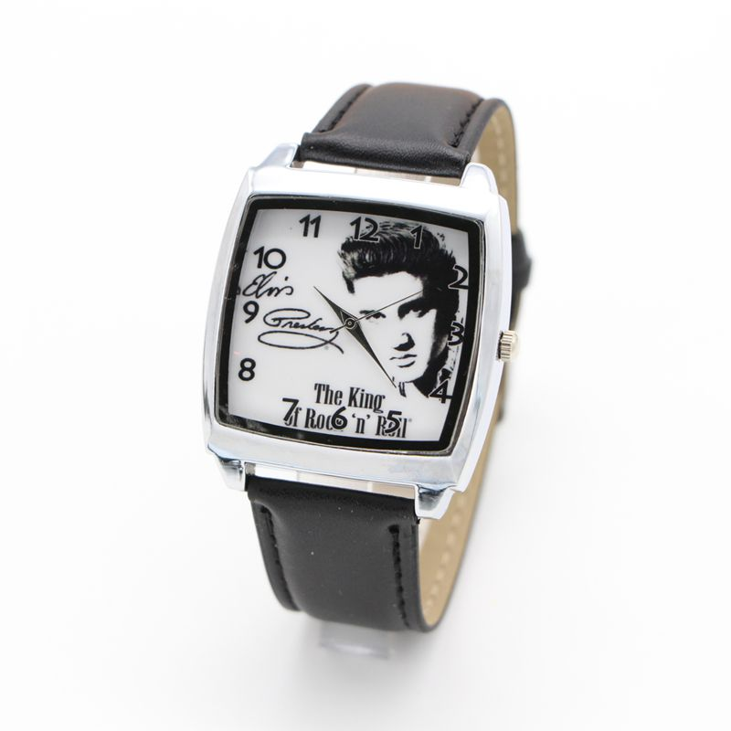 Elvis Presley watch Men's Wrist Watches Leather Watchband Top Luxury Brand Males Quartz Clock Boy Wristwatch цена 2017