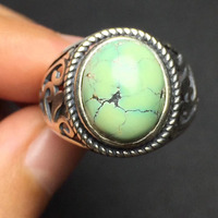 Fine Jewelry On Sale Christmas Gift S925 Solid Real 925 Sterling Silver 100 Natural Turquoise Gemstone