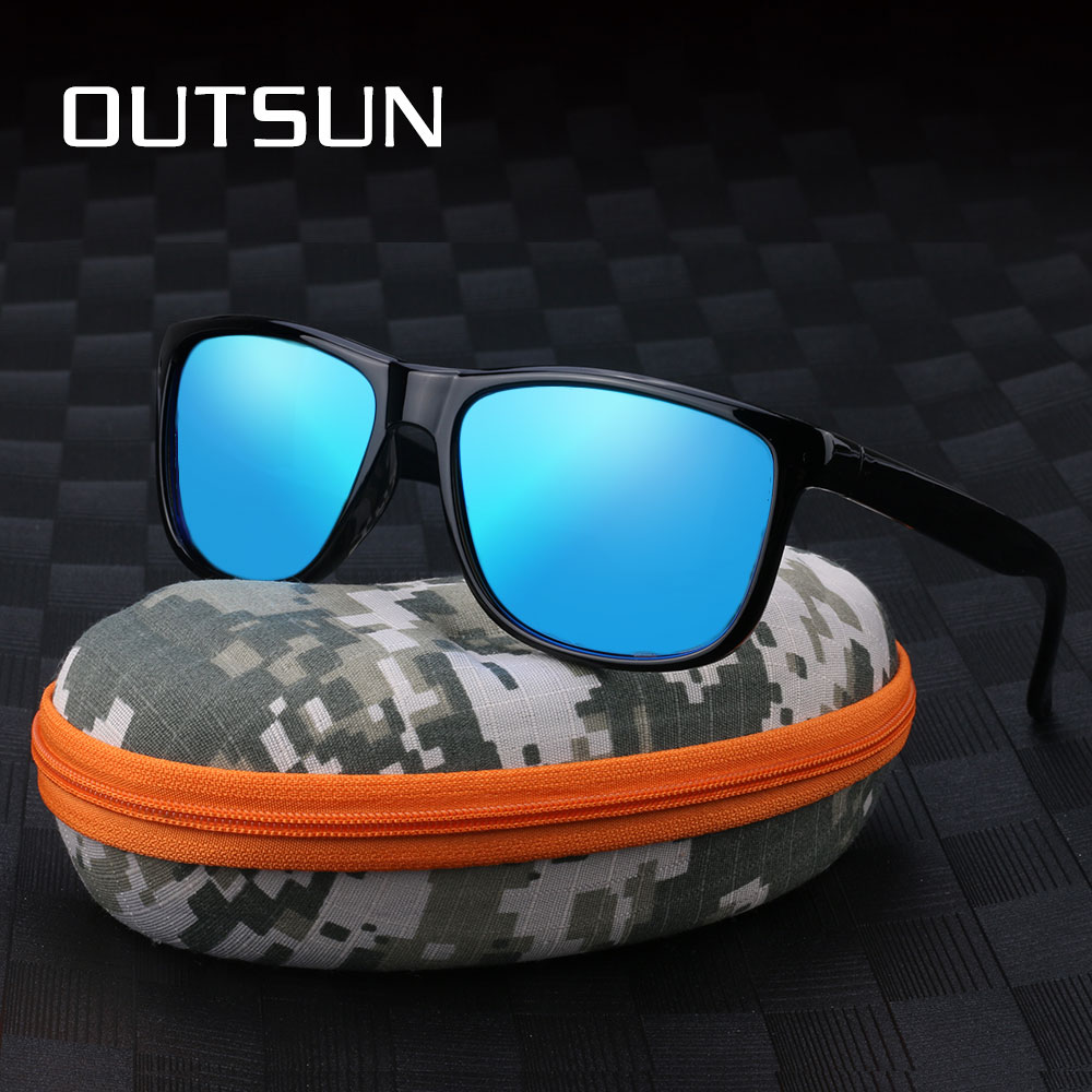 OUTSUN Cool Men Polarized Sunglasses Sun Glasses Male Square Shades Night Vision Googles Oculos Gafas De Sol